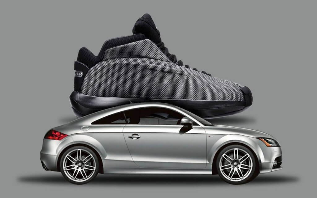 Audi inspired Kobe Bryant's Adidas sneaker design